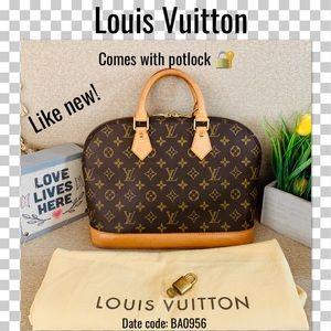 Like new Louis Vuitton Satchel bag alma Monogram p